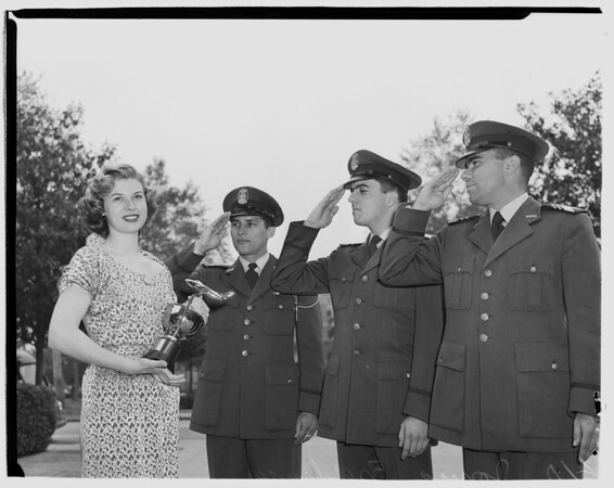 Honorary Colonel of Southern California's Air Force Reserve Officers Training Corps, 1952