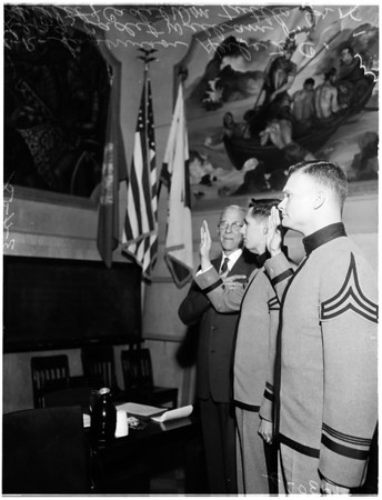 Cadets lead Pledge (Board of Supervisors) (Allegience), 1958