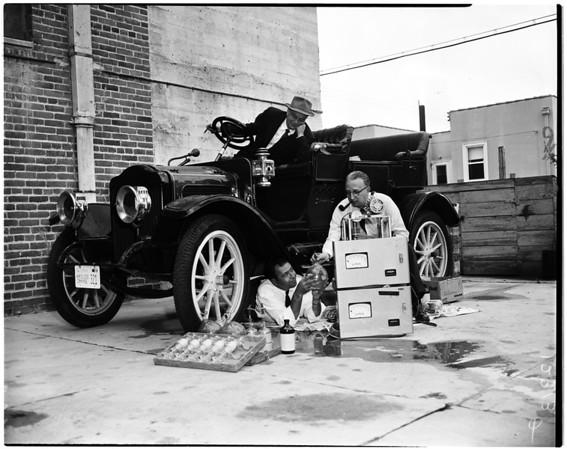 Old car smog test, 1958