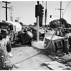 Gasoline truck versus ice cream truck (Anaheim -- Telegraph Road and Passons Boulevard), 1952