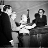 Judge Lillie farewell, 1958