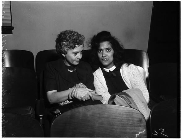 Pre Divorce hearing, 1958
