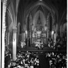 Easter midnight mass at St. Vibiana's, 1958