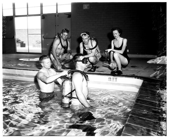 Swimming cops, 1958