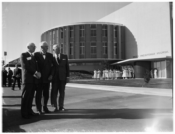 Dedication of new Valley Presbyterian Hospital, 1958