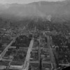 An aerial view of Pasadena, looking north along Fair Oaks Avenue and Raymond Avenue, ca. 1900-1940