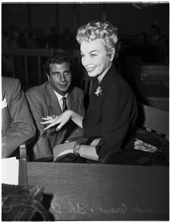 Lili Saint Cyr (at Beverly Hills Justice Court), 1951