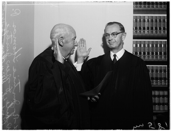 New Justice sworn in, 1958