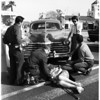 Traffic acident in West LA, 1958