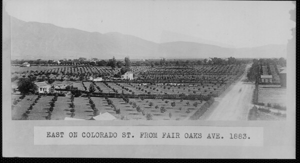East on Colorado Street from Fair Oaks Avenue, 1883