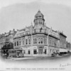 The First National Bank building at the corner of Fair Oaks Avenue and Colorado Street, ca. 1880-1914