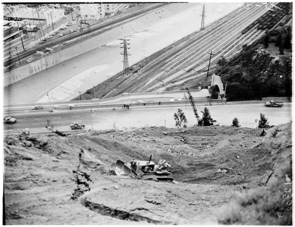 Moving mountain (Elysian park), 1958