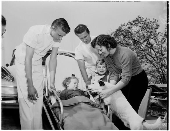 Little crippled girl story, 1958