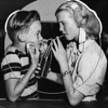 Don Adams & Marilyn Richards share a soft drink at the Riddick Youth Center, 1946