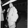 Philosopher arrival at Union Station, 1958