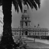 A front view of Pasadena's City Hall, ca. 1930