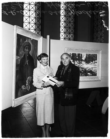 Scandinavian art exhibit (City Hall tower), 1958