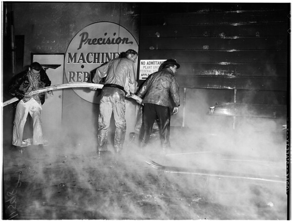 Fire in Inglewood, 1955