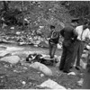 Dead woman found beside north fork of San Gabriel river, 1958