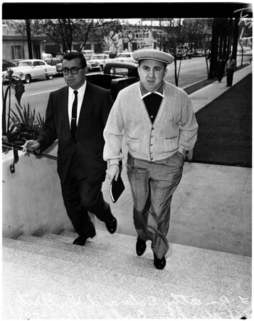 Mickey Cohen arraignment, 1958