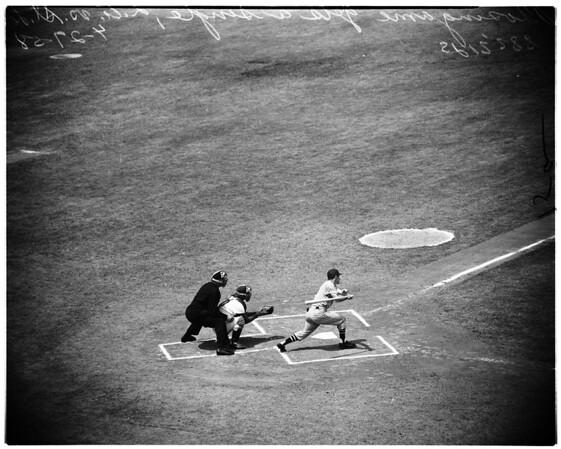 Baseball -- Cardinals versus Dodgers, 1958