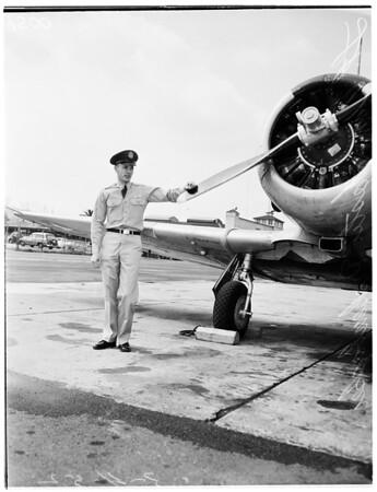 Lieutenant William Foster Rickenbacker (son of Captain Eddie Rickenbacker), 1952