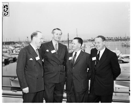 Plan new luxury passenger terminal in Long Beach Harbor, 1958