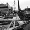 Wind blows wall down, 1958