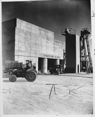 Hyperion sewage treatment power and blower plant ending construction, Los Angeles, 1950