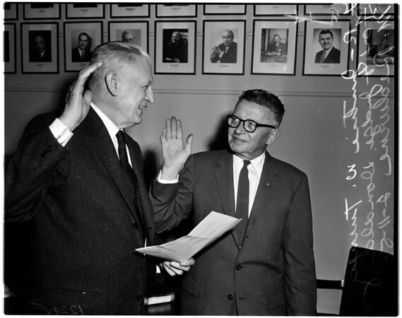 Redwine induction, 1958