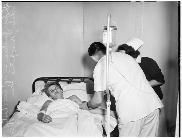 Attempted suicide ...Georgia Street Receiving Hospital, 1951