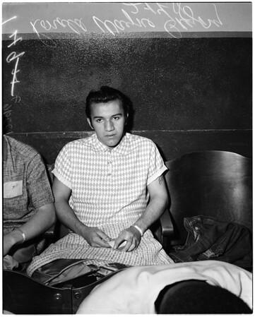 """Ronald Wayne Gregory (known as """"Little Julian Harrera""""), 1958"""
