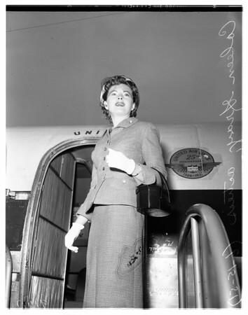 Queen of Colorado's Royal Gorge boat race, 1951
