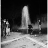 Car hits fire hydrant, 1952