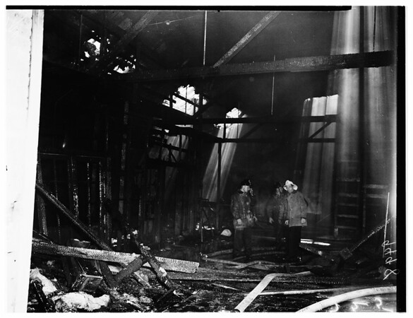 Fire at 5545 Sunset Boulevard, 1952
