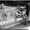 Broadway department store window display for Dodgers, 1958