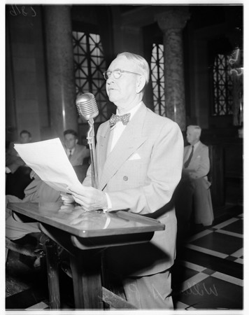 Budget hearing (city council), 1951