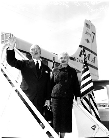 Zellerbach arrival, 1958