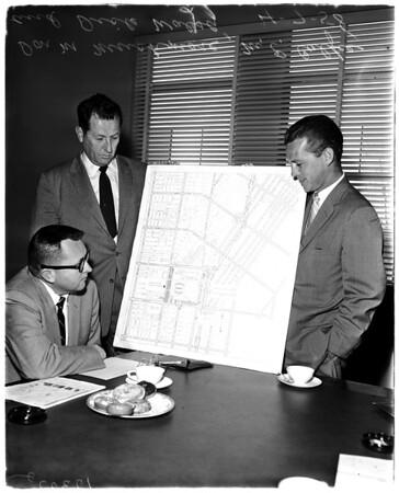 Dodgers traffic problem at Dodger games, 1958