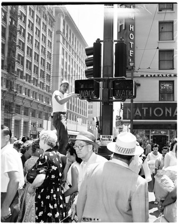 Scramble traffic control system, 1956