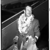 Arrives from Honolulu, 1952