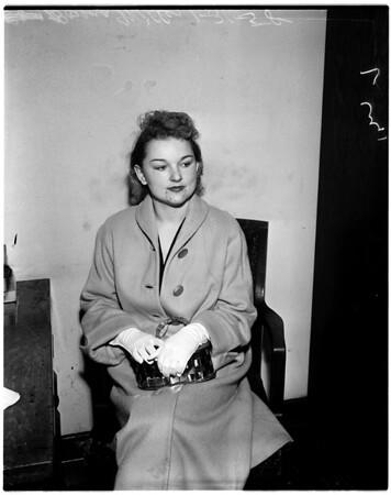 Court hearing on divorce, 1958