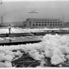 Foam at sewage treatment plant, Los Angeles, 1951
