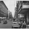 """Broadway """"Canyon"""" looking north from Ninth Street, 1930"""