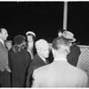 Joan Bennett at airport, 1952