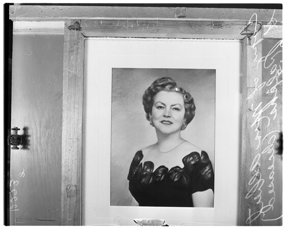 Copy negative of Mrs. Albert G. Ralphs, Senior, 1958