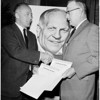 Knight for senator (pix of Knight in background), 1958