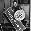 Hollywood marking sign with seal of the City of Los Angeles, 1960