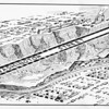 Drawing of Washington St. and the proposed site for the future Marina Del Rey, 1931
