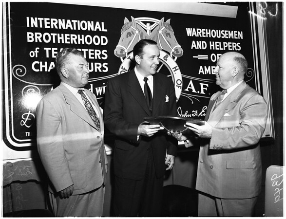 Hearst Award from Teamsters, 1951